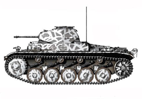 PzKpfw II Sd.Kfz.121 ModeloC, 15º Regimiento Panzer, 11ª División Panzer, Frente del Este, 1941.