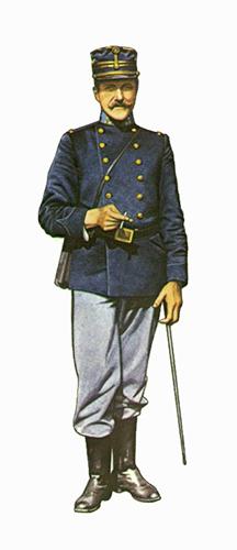 Capitán de Infantería de línea, cerca de Termonde. 1947.