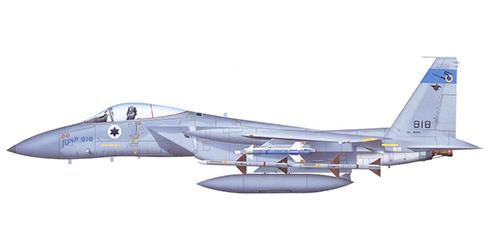 McDonnell Douglas F-15 C, Escuadrón ''Spearhead'', Fuerza Aérea de Israel, Tel Nof, 1998.