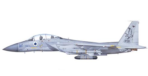 McDonnell Douglas F-15 D Eagle, Escuadrón ''Spearhead'', Fuerza Aérea de Israel, Tel Nof, 2002.