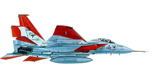 McDonnell Douglas F-15 Eagle, el primer Eagle como apareció en su primera prueba de vuelo.