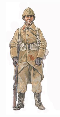 Soldado de Infantería, Frente de Yser, invierno de 1918.