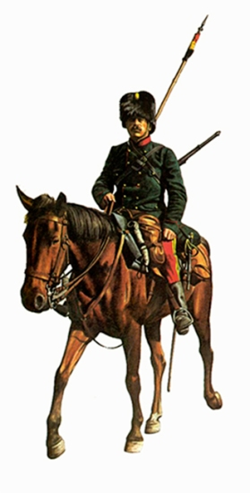 Soldado del 1er. Regimiento de Guías, Bélgica, 1914, va ramado con un rifle Mauser Belga M1889.