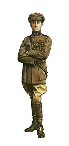 Teniente 1ª División de Artillería a caballo, Marzo de 1917.