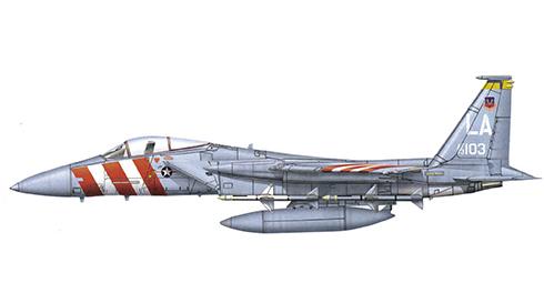 McDonnell Douglas F-15 A Eagle, 461º Escuadrón de entrenamiento táctico, Base Aérea de Luke, Arizona, 1972.