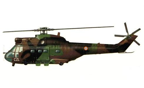 Aérospatiale SA-330 B Puma, 1er. Regimiento de Helicópteros de combate, Armée de l'Air, Phalsbourg, Francia.