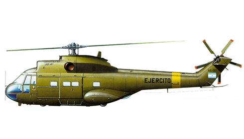 Aérospatiale SA-330 L Puma, 601º Escuadrón, Ejército Argentino, 1982.