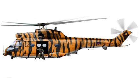 SA-330 E HC1 Puma, 230º Escuadrón, OTAN Tiger Meet, 2005.