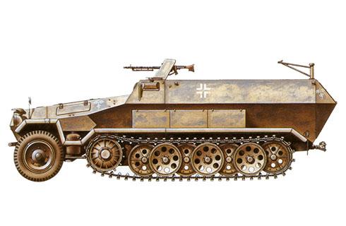 Sd.kfz 251-1 Ausf, B, 21ª División Panzer, Deutsches Afrikakorps, Libia, 1941.