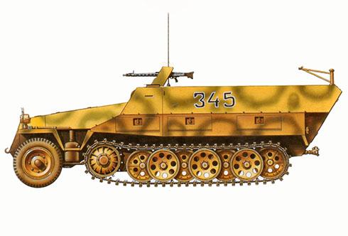 Sd.Kfz 251-1 Ausf. D, 5ª División Panzer SS Wiking, Varsóvia, Frente Oriental, 1944.