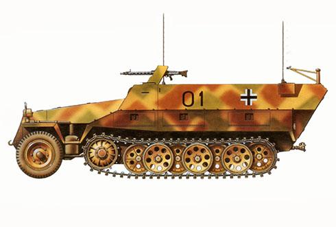 Sd.Kfz 251-3 Ausf. D, 12ª División Panzer, Bélgica, 1944.