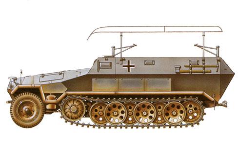 Sd.Kfz 251-6 Ausf. A, vehículo de mando, 3er. Regimiento Panzer, 2ª División Panzer, Francia, 1940.