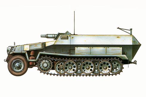 Sd.Kfz 251-9 Ausf. D, 16ª División Panzer, Polonia, 1945.
