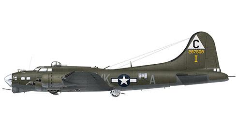 Boeing B-17 G-15-VE Flying Fortress, apodado ''Old Hickory'', 384º Grupo de bombarderos, 359º Escuadrón de bombarderos, Fuerza Aérea de los Estados Unidos, 1944.