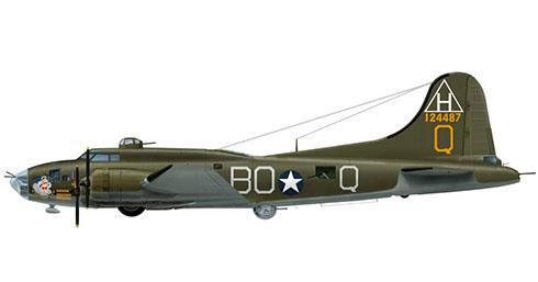 Boeing B-17G Flying Fortress apodado ''Eager Beaver'', 306º Grupo de bombarderos, 368º Escuadrón de bombarderos, Fuerza Aérea de los Estados Unidos, 1943.