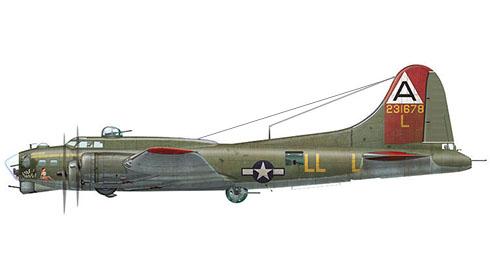 Boeing B-17G Flying Fortress apodado ''Little Patches'',  91º Grupo de bombarderos, 324º Escuadrón de bombarderos, Fuerza Aérea de los Estados Unidos, 1944.