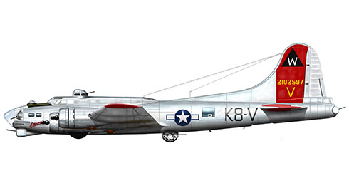 Boeing B-17G Flying Fortress apodado ''Stinker'',  398º Grupo de bombarderos, 602º Escuadrón de bombarderos, Fuerza Aérea de los Estados Unidos, 1944.