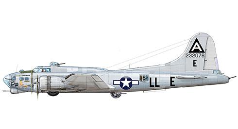Boeing B-17G Flying Fortress ''Shoo Shoo Shoo BABY'', 91º Grupo de bombarderos, 401º Escuadrón de bombarderos, Fuerza Aérea de los Estados Unidos, 1944.