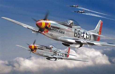 Dos North American P-51 Mustang del 362º Escuadrón de cazas, 357º Grupos de cazas, 1943.