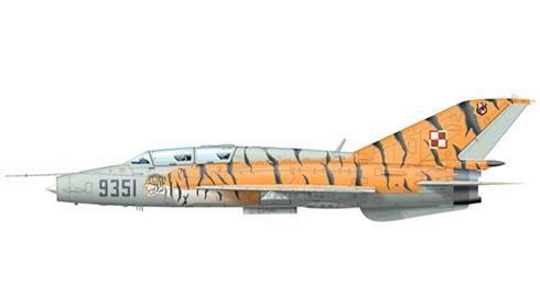 Mikoyan-Gurevich MiG-21 UM Fishbed, 26º Escuadrón de cazas, Fuerza Aérea Polaca, Poznan-Krzesiny, Polonia, 2004