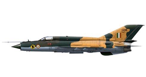 Mikoyán-Gurévich MiG-21 Bis Fishbed, 24º Escuadrón, Fuerza Aérea de la India.