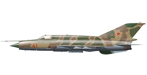 Mikoyán-Gurévich MiG-21 Bis Fishbed, 2º Escuadrón, Fuerza Aérea de la URSS, Afghanistan, 1980.