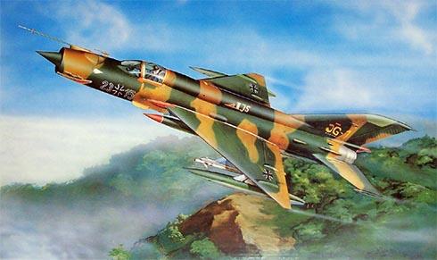 Mikoyán-Gurévich MiG-21 MF Fishbed, Fuerza Aérea de la RFA, 1988.