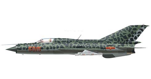 Mikoyán- Gurévich MiG-21 MF Fishbed, Fuerza Aérea de Vietnam del Norte, 1972.