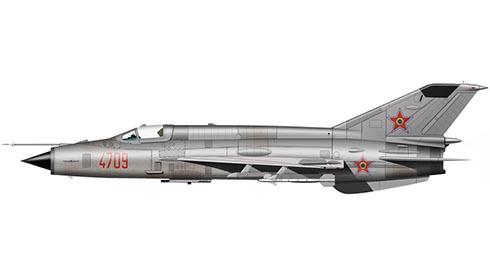 Mikoyán-Gurévich MiG-21 PFM Fishbed, Fuerza Aérea de Rumanía.