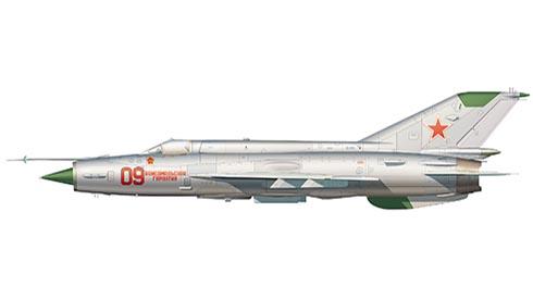 Mikoyán-Gurévich MiG-21 SM Fishbed, 234º Escuadrón,Fuerza Aérea de la URSS, Base Aérea de Kubinka AB, 1974.