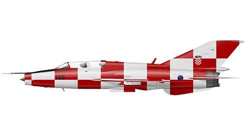 Mikoyán-Gurévich MiG-21 UM Fishbed, 21º Escuadrón, Fuerza Aérea Croata.