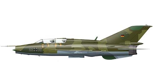 Mikoyán-Gurévich MiG-21 UM Fishbed, Fuerza Aérea de la RFA, 1990.