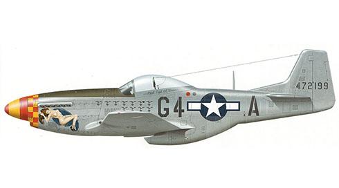 North American P-51 D 20-NA Mustang, 357º Grupo de Cazas, 362º Escuadrón de Cazas, Fuerza Aérea de Estados Unidos, 1944.
