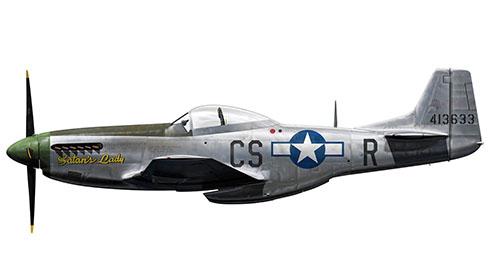 North American P-51 D-5-NA Mustang, 359º Grupo de Caza, 370º Escuadrón de Caza, Fuerza Aérea de Estados Unidos, 1944.