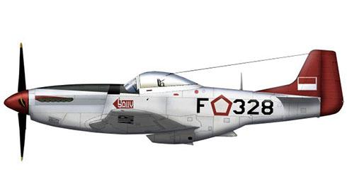 North American P-51 D Mustang, 3er. Escuadrón de Cazas, Fuerza Aérea de Indonesia, 1958.