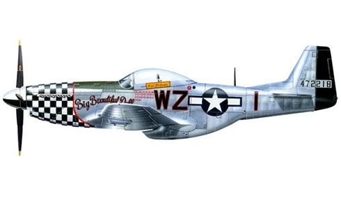 """North American P-51 Mustang D-FBBD perteneciente al Coronel John Dave Landers apodado """"Big Beautiful Doll"""", 78º Grupo de Caza, 84º Escuadrón de Caza."""