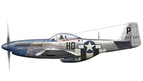 North American P-51D-5-NA Mustang, 352º Grupo de Cazas, 487º Escuadrón de Cazas, Inglaterra, 1944.
