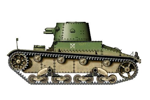 Vickers 6-ton. Mark E modelo B, 44º Real Regimiento de Tanques, 1940.
