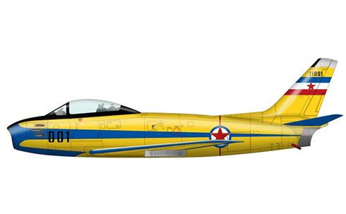 Canadair CL-13 Sabre F.Mk.4, Patrulla Acrobática de la Fuerza Aérea de Yugoslavia.