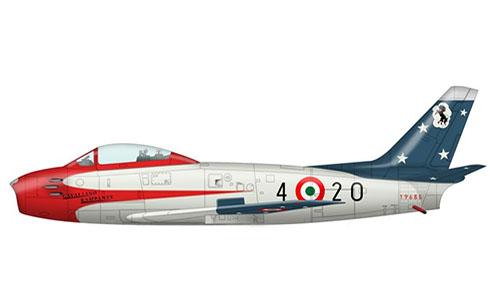 Canadair Sabre Mk.4, Patrulla Acrobática Cavallino Rampante, Aeronáutica Militare Italiana, 1957.