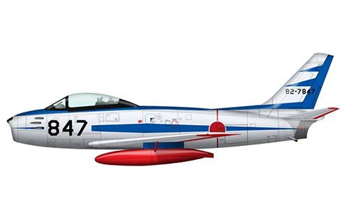 Mitsubishi F-86 F, Fuerza Aérea de Autodefensa de Japón, Patrulla AcrobáticaBlue Impulse.
