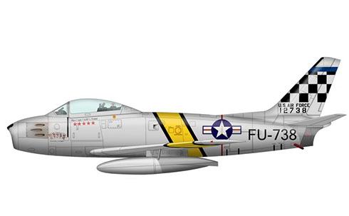 North American F-86 E Sabre, Fuerza Aérea de los Estados Unidos, Corea, 1952.