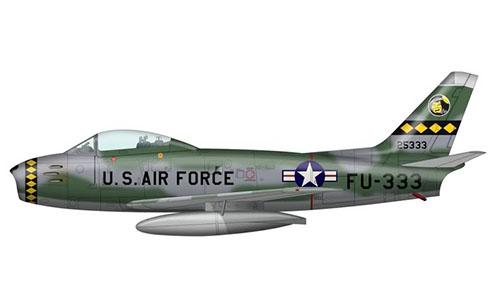 North American F-86 E Sabre, Fuerza Aérea de los Estados Unidos, Guerra de Corea, 1953.