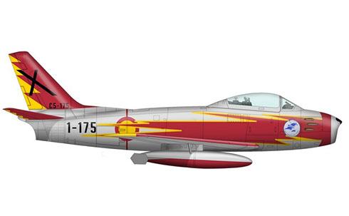North American F-86 F del Ejército del Aire Español, Patrulla Ascua.