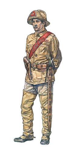 Capitán de Caballería del Ejército Cubano de Liberación, 1898.
