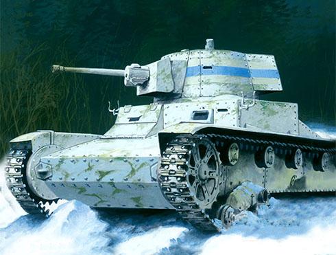 Vickers 6ton. Mark E type B de la 4ª Compañia de un batallon de blindadosfinlandes, Itsmo de Karelia, 1940 .