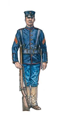 Sargento del Cuerpo de Marines de los Estados Unidos, Bahía de Manila, 1898.