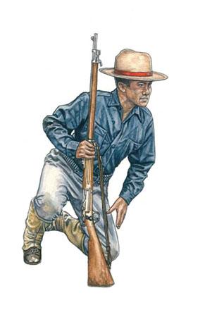 Soldado rastreador, Jungla de Filipinas, 1901.