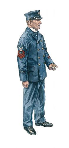 Suboficial de la Marina de los Estados Unidos, Bahía de Manila, 1898.