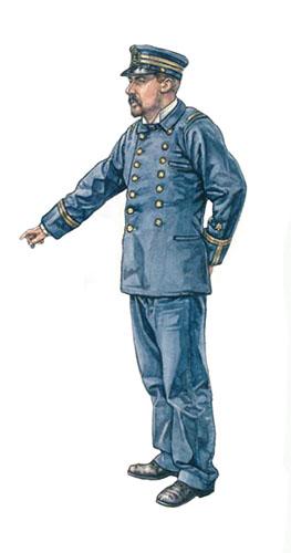 Teniente del Crucero Vizcaya, Marina Española, 1898.